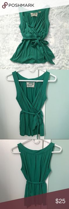 Like New Green Deletta Anthropologie Tank Top Like New Green Deletta Anthropologie Tank Top, size small.  Worn once and in like new condition.  See pictures for measurements. 😊 Anthropologie Tops Tank Tops