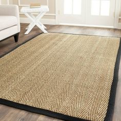 Shop for Safavieh Casual Natural Fiber Hand-Woven Sisal Natural / Black Seagrass Rug (9' x 12'). Get free shipping at Overstock.com - Your Online Home Decor Outlet Store! Get 5% in rewards with Club O!
