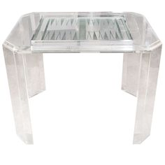 Lucite Backgammon Table. Modern Game ...