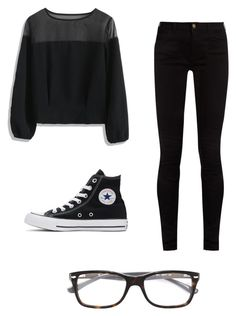 """""""Mila's casual wear"""" by pantsulord on Polyvore featuring Chicwish, Gucci, Converse and Ray-Ban"""