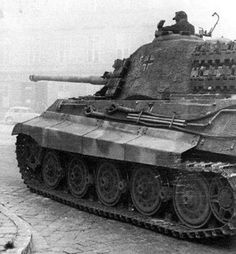 A German King Tiger in Budapest, 1944.