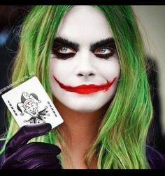 Halloween makeup Joker