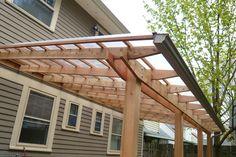 Big patio roof cedar