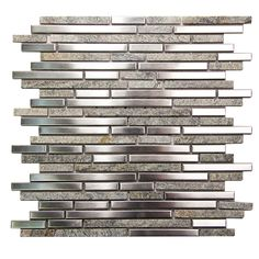 Shop Hebe 007 Mosaic Grey Metal And Stone Tile and discover a backsplash to compliment a contemporary area. An interesting metal option for a bold backsplash. Modern Mosaic Tile, Glass Mosaic Tiles, Diy Bathroom Decor, Small Bathroom, Bathroom Wall, Master Bathroom, Small American Kitchens, Ceramic Tile Bathrooms, Walk In Shower Designs