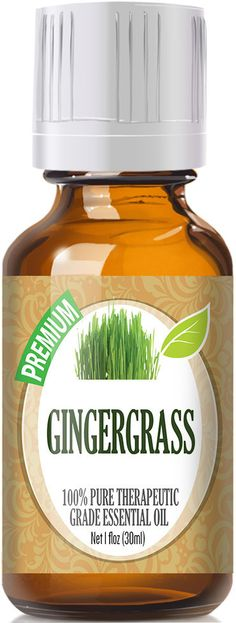 Gingergrass Essential Oil has a sharp grassy and peppery scent with moderate undertones of lemon. Botanical Name: Cymbopogan martini var sofia
