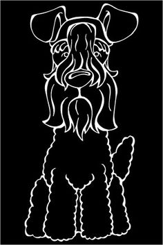The Decal Dog of the Day is the Kerry Blue Terrier. Show off your love for your Soulmutt with a Decal Dog Car Window Sticker. #decaldogs #dogsofpinterest #KerryBlueTerrier
