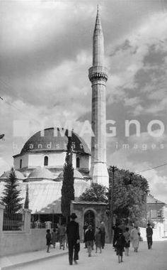 Hauptmoschee von Mostar Photographie. Bosnien-Herzegowina. Um 1930. ©IMAGNO