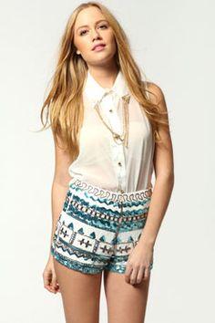Amelia Heavily Embellished Hotpants
