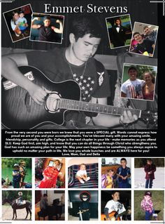 B&W Dominant Photo in Full page-2016 Yearbook staff created Senior Yearbook Ad for Pasco High School Yearbook.