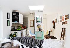 La decoración de una casa de 40 metros cuadrados | Decorar tu casa es facilisimo.com