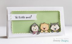 """Fabulous way of using critters from the """"Happy Winter"""" set for a baby card =)"""
