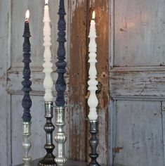 I can diy these Pompeuse Candles by casting a candle mould from finials from the hardware store! ^__-