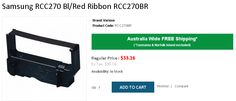BUY Best Quality Samsung RCC270 Bl/Red Ribbon RCC270BR  from OnlyPOS Australia. #consumables #onlypos