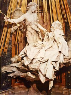 The Ecstasy of Saint Teresa by Gian Lorenzo Bernini One of these days I WILL see this! Bernini Sculpture, Baroque Sculpture, Baroque Art, Caravaggio, Gian Lorenzo Bernini, Santa Teresa, Santa Maria, Mystique, Ap Art