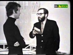 """PAOLO POLI e UMBERTO ECO  """"Cos'è il conformismo?"""" U. Eco  """"E' la cravatta che ti sei messo per venire qui in trasmissione"""" P. Poli"""