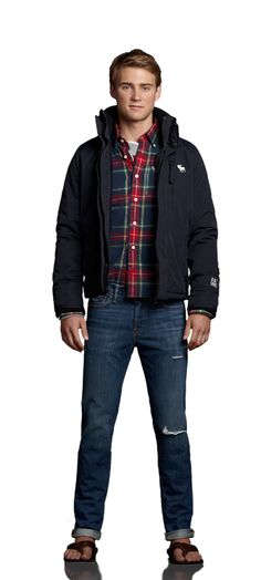 HOME GAME  GEAR UP FOR FALL IN DESTROYED SKINNY JEANS AND A MUSCLE FIT TEE. LAYER ON A LONG SLEEVE GRAPHIC TEE OVER A COLORFUL PLAID SHIRT AND THROW ON THE A ALL-SEASON WEATHER WARRIOR. GRAB A PAIR OF RUGGED TREADS AND YOU'RE GOOD TO GO.