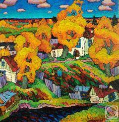 Veselovsky Valery.  Sketch.  Poplar.