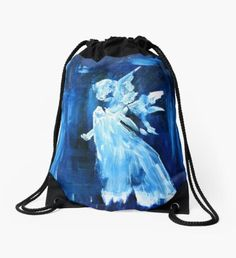Blue Angel Drawstring Bag Winter Fairy, Green Palette, Blue Angels, Christmas Art, Sweater Weather, Fashion Art, Classic T Shirts, Winter Fashion, Pouch