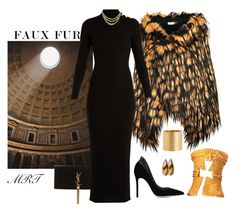 """""""Faux Drama"""" by meesh57 ❤ liked on Polyvore featuring Dries Van Noten, Christian Lacroix, Yves Saint Laurent, Magdalena Frackowiak, Gianvito Rossi, Balmain, Marco Bicego and Irene Neuwirth"""