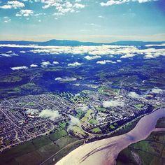 Flying into #Launceston #tasmania #discovertasmania Image Credit: Nicole Warne