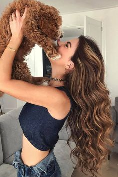 @negin_mirsalehi hair goals always oh and that pup.