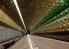 Subway Station with Green and Golden Tiles by yushimoto_02 [christian] on Flickr.