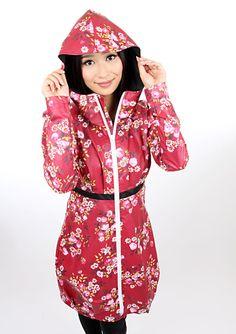 cute raincoat with flowers, feminine by meko via DaWanda.com
