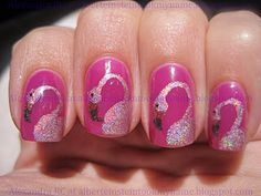 cutest flamingo nails EVER!!