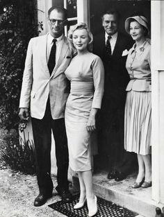 A.Miller and Marilyn with Laurence Olivier and Vivien Leigh.