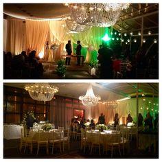 Em 12 minutos transformei a cerimonia montada para 100 pessoas em local para convidados com mesas e cadeiras (as mesmas), arranjos, estacao de buffet... #ideiascriativas #casamento #decor @bbprojetos