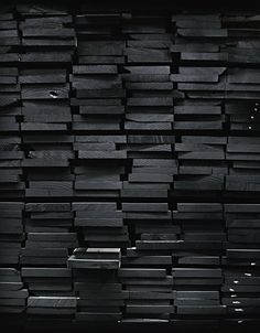Black timber wall.