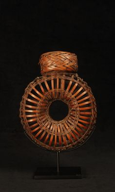 Chinese bamboo sparrow basket made to carry sparrows home from the  marketplace.