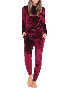 Fashion Long Sleeve Velvet Sporty Track Suits Fall Going Out Wear