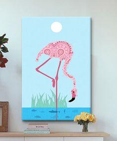 Look at this #zulilyfind! Flamingo Gallery-Wrapped Canvas by iCanvas #zulilyfinds
