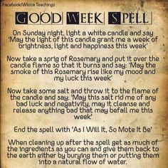 Good week spell
