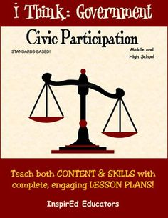 This Common Core teaching unit from InspirEd Educators includes 20 single-class lessons to teach civic rights and responsibilities in the U.S. Topics include political parties, voter participation, the voting process, fair elections, media influence, public opinion, polling, interest groups, and much more.