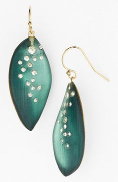 Alexis Bittar 'Lucite® - Dust' Long Leaf Statement Earrings available at #Nordstrom