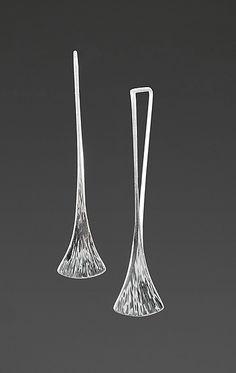 Haiku Earrings by Nancy Linkin: Silver Earrings available at www.artfulhome.com