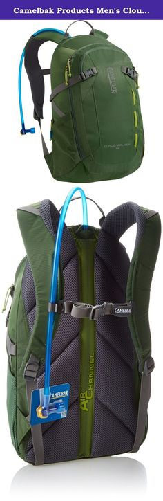 Camelbak Products Men's Cloud Walker Hydration Pack, Deep Olive/Sprout, 70-Ounce. For a full day out on the trail, our compact Cloud Walker 18 hiking pack sports a clean, technical aesthetic and features designed to keep you cool, hydrated and all your gear organized. The main compartment is accessed via an asymmetrical zipper that enables easy access and prevents cargo from spilling out when fully open. In addition to our industry-leading 2 liter Antidote Reservoir you get two mesh side...
