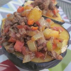 GAPS Moroccan-Spiced Stuffed Acorn Squash  We've had this twice and it is insanely awesome. 7/14