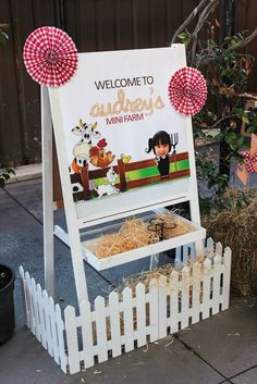 Barnyard + Farm themed birthday bash via Kara's Party Ideas KarasPartyIdeas.com #farmparty #outonthefarm #barnyardparty Printables, games, and MORE! (13)