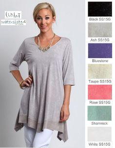 Chalet USA Hemp Jersey Zoey Tunic Long Side Panel Top XS s M L XL 2015 Colors | Organic Knit #onsale