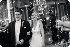 Best Wedding Exits Black and White Bride and Groom