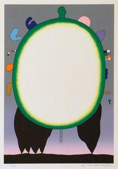 Works by by Sadamasa Motonaga (born Japan, Art And Illustration, Illustrations, Graphic Design Illustration, Misaki Kawai, Art Informel, Art Japonais, Japanese Artists, Abstract Pattern, Oeuvre D'art