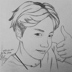 Army Drawing, Monster Drawing, Rap Monster, Kpop Drawings, Art Drawings Sketches Simple, Celebrity Drawings, Jhope, Chibi, Pin Up