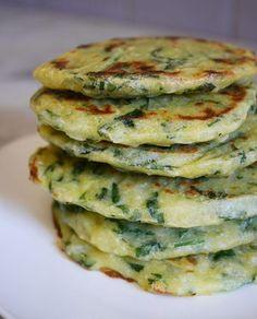 Spinach polenta patties - How I changed my life - Spinach polenta cake Informationen zu Galettes polenta épinards – Comment j'ai changé de vie P -