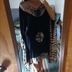 Sir alistair rai tye dye caftan Light and fun tunic for the beach! So soft. In good condition, but there is a Small tear (see third image). Sir alistair rai  Sweaters Shrugs & Ponchos