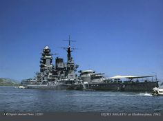 """Battleship """"Nagato"""" (長門), named for Nagato Province, was a dreadnought battleship built for the IJN during the 1910s, and was the flagship of Admiral Isoroku Yamamoto during the attack on Pearl Harbor. She was attacked in July 1945 as part of the American campaign to destroy the IJN's last remaining capital ships, but was only slightly damaged. In mid-1946, the ship was a target for nuclear weapon tests during Operation Crossroads. She was sunk by the second test."""