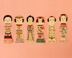 Kokeshi cards (benefitting Tohoku)