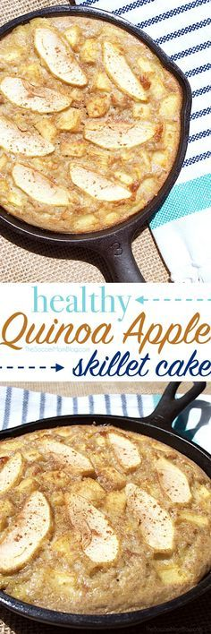 Apple pie gone guilt-free! This quinoa apple cake recipe is packed with protein, plus it's gluten free and lactose free. An easy and gorgeous breakfast or dessert!